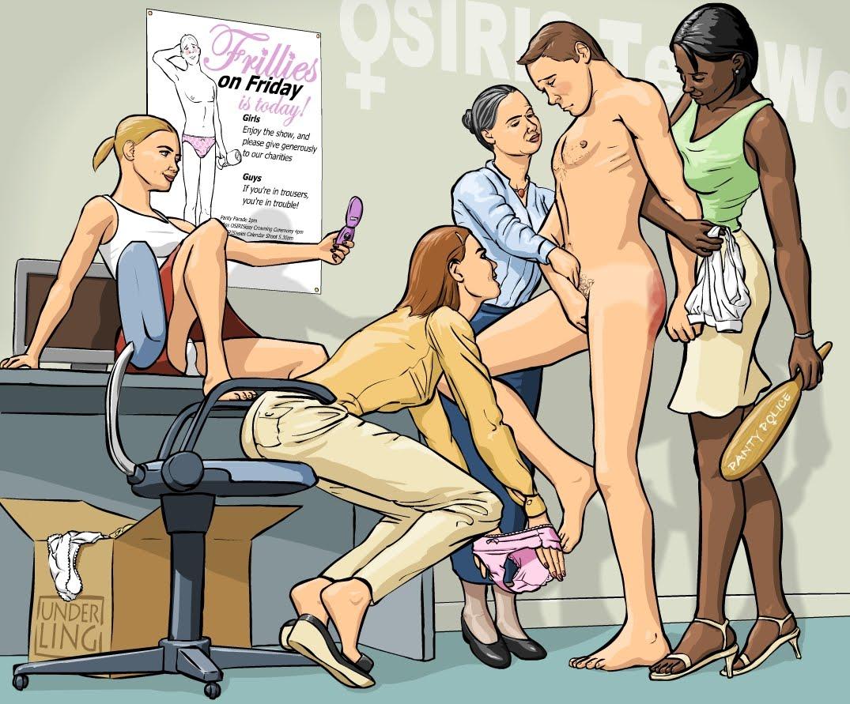 Femdom slave maid sissymen August Ames