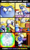 SuperSchtroumpf's Smurfs - Brainy's turbulent night part #2
