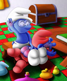 SuperSchtroumpf's Smurfs - Regressed and Spanked