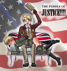 Zani's Coloring of - Hetalia - The Paddle of Justice