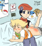 Pocket-Girl's Pokemon - Kouki spanking Jun