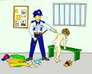 LittleLord's Police station spanking