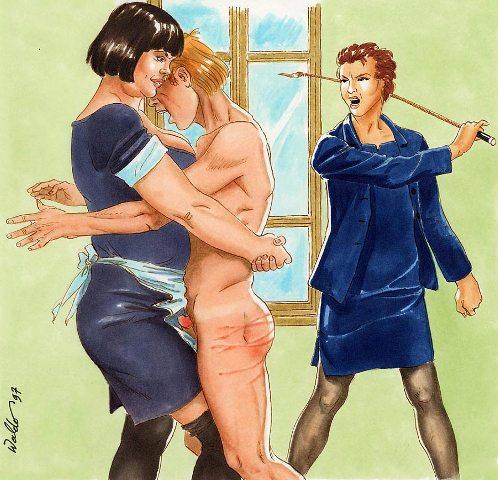 waldo s male spanking art 1  boyz being boyz