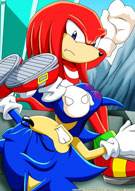 Palcomix's Sonic the Hedgehog - Knuckles spanks Sonic