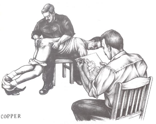 Boyz Drawing Male Spanking