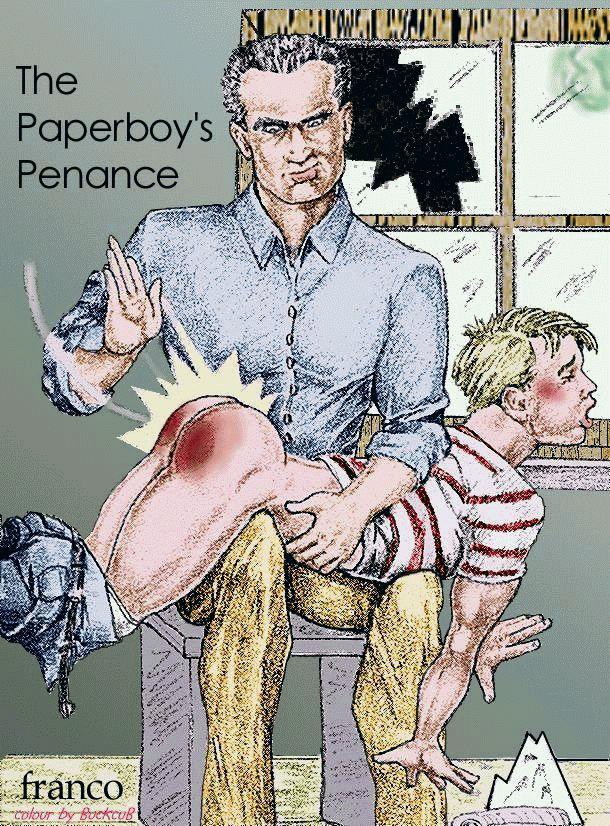 Erotic drawings boy being spanked gay